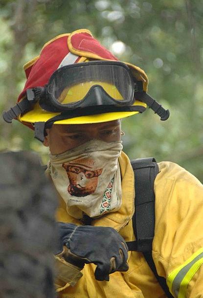 Firefighter Landscapes Nature Forest-Fire Fireman