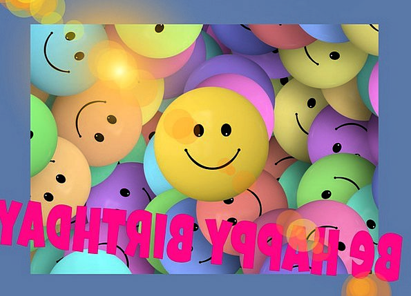Birthday Birthdate Faces Expressions Smilie Color