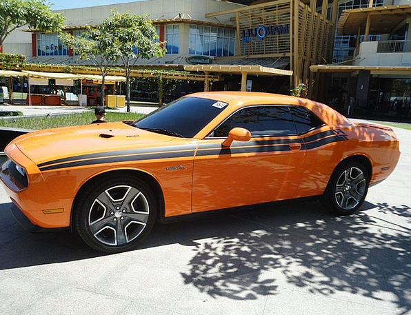 Muscle Car Contestant Orange Carroty Challenger Au