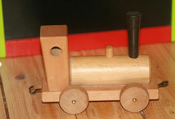 Toys Dolls Build Shape Wooden Railway Children'S R