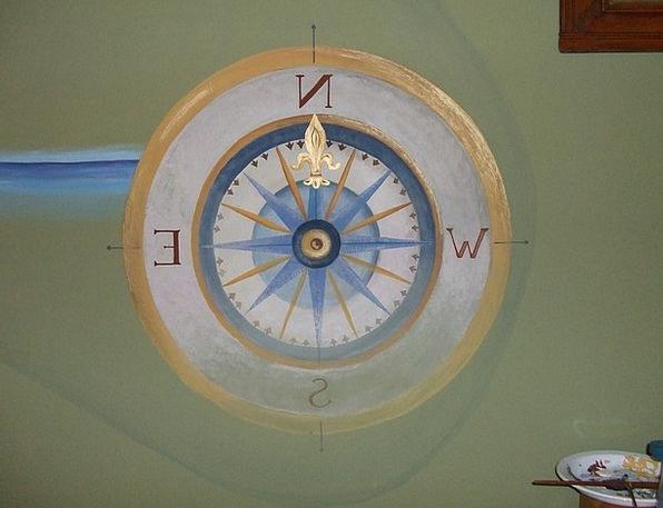 Wall Painting Fresco Scope Falidekor Compass