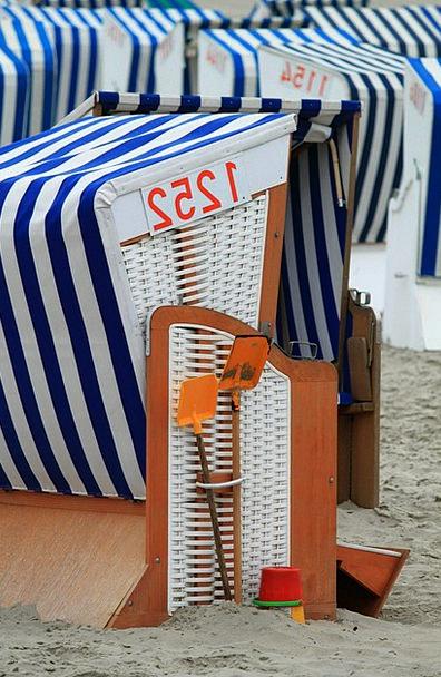 Beach Chair Vacation Seashore Travel North Sea Bea