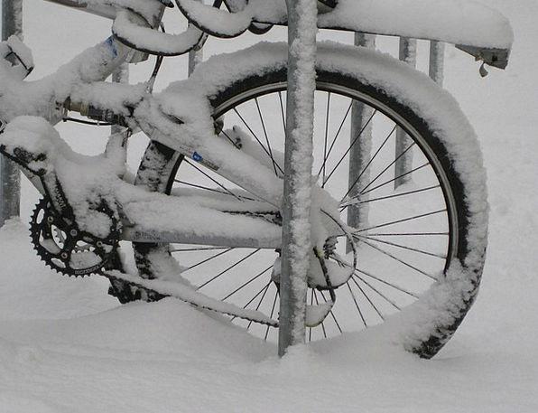 Bike Motorbike Snow Snowflake Mountain Bike Pinion
