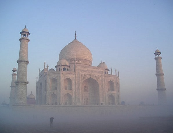 India Mahal Taj Agra Temple Tomb Fog Shrine Grave