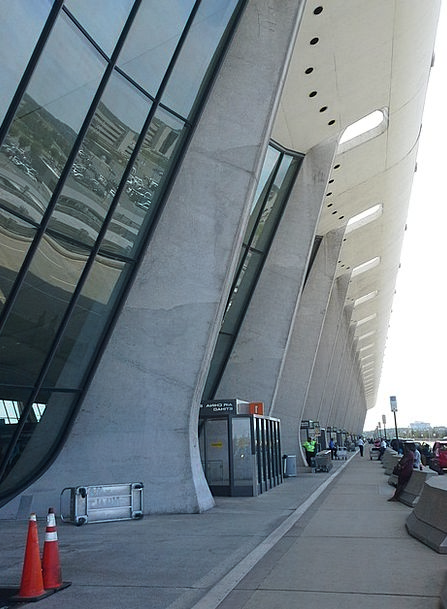 Dulles Buildings Airfield Architecture Terminal Fa