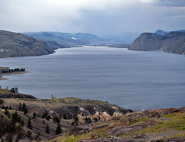 Kamloops Lake Landscapes Nature Water Aquatic Brit