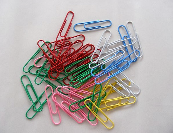 Binder Folder Fasteners Colored Tinted Clips Multi