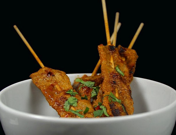 Satay Skewers Drink Fill Food Skewers Spits Sate A