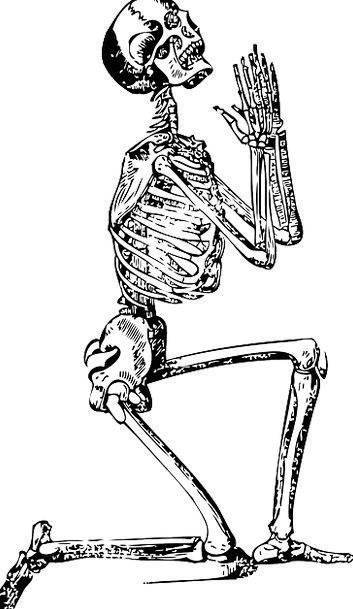 Skeleton Minimum Request Man Gentleman Pray Jesus