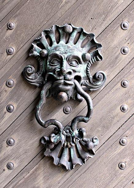 Doorknocker Figurine Middle Ages Bronze Antique Ol
