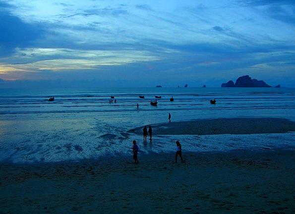 Blue Azure Vacation Marine Travel Sea Ocean Night