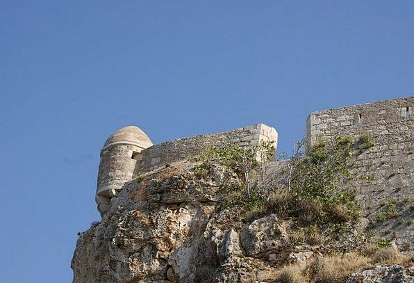 Greece Heraklion Crete Sky The Walls Stone Castle