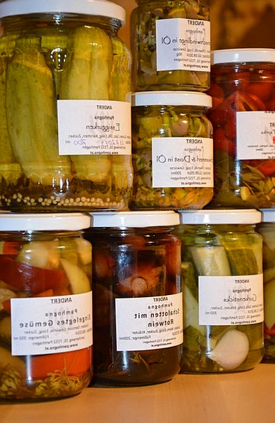 Preserving Jars Plights Vegetables Potatoes Pickle