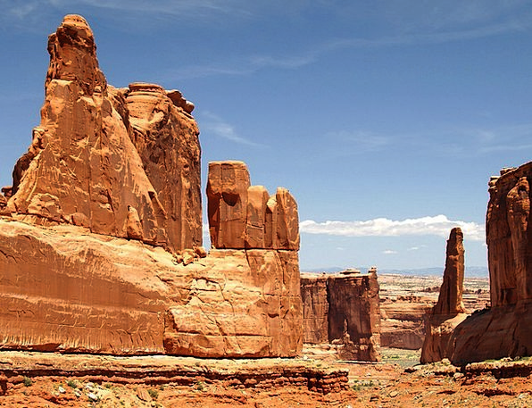 Arches National Park Landscapes Nature Usa Utah Re