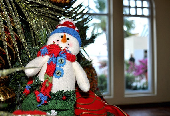 Snowman Snowflake Winter Season Snow