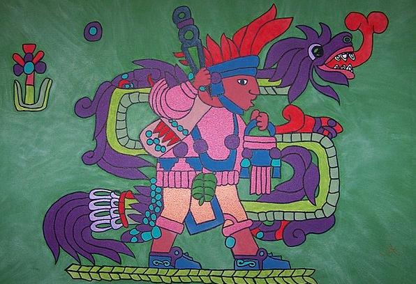Quetzalcoatl Kulkulcan Aztec Feathered Serpent Acr
