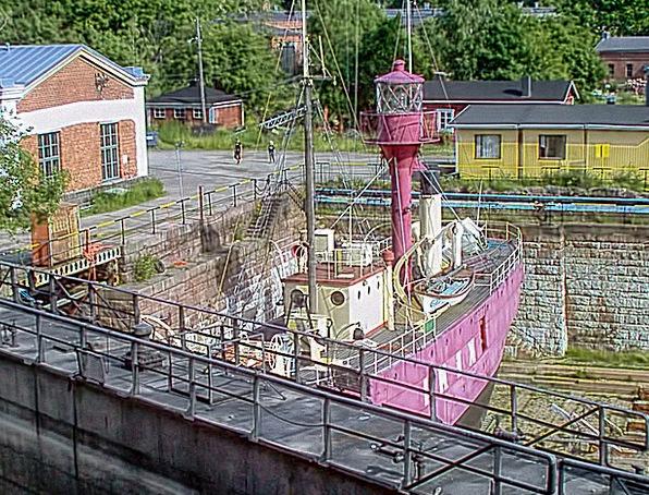 Lightship Berth Suomenlinna Dock Helsinki Finnish