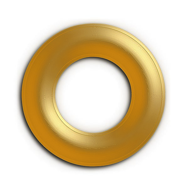 Ring Circle Excellent Yellow Creamy Golden Bright