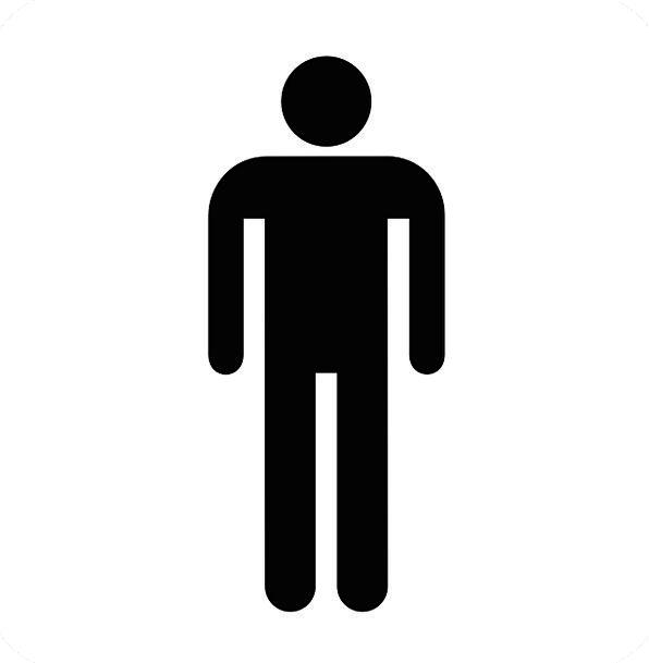 Restroom Washroom Gentlemen Noblemen Sign Wc Symbo