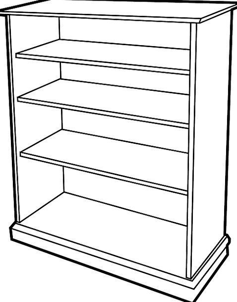 Bookcase Timber Furniture Equipment Wooden Shelves