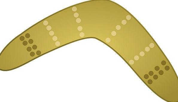 Boomerang Rebound Weapons Arms Aboriginal Throw Au