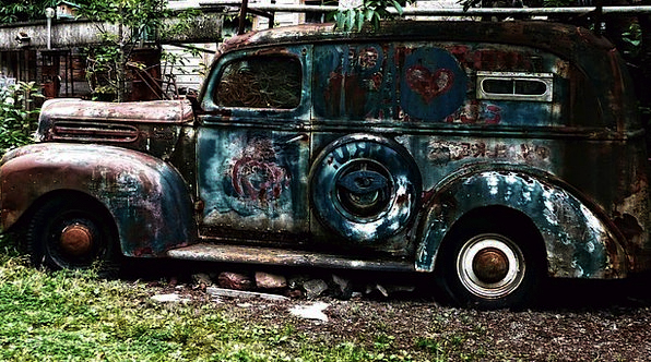 Old Ancient Traffic Corroded Transportation Ford C