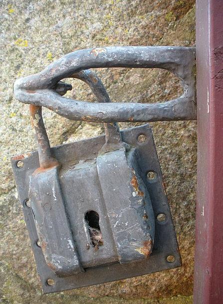 Padlock Lock Big Old Ancient Large Rust Corrosion
