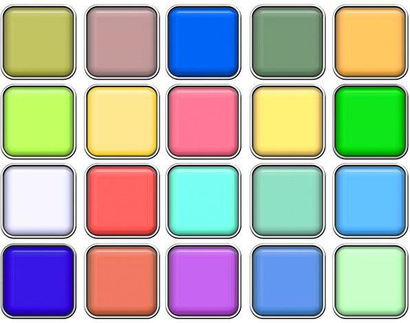 Color Hue Button Key Chromaticity Diagram Stylish