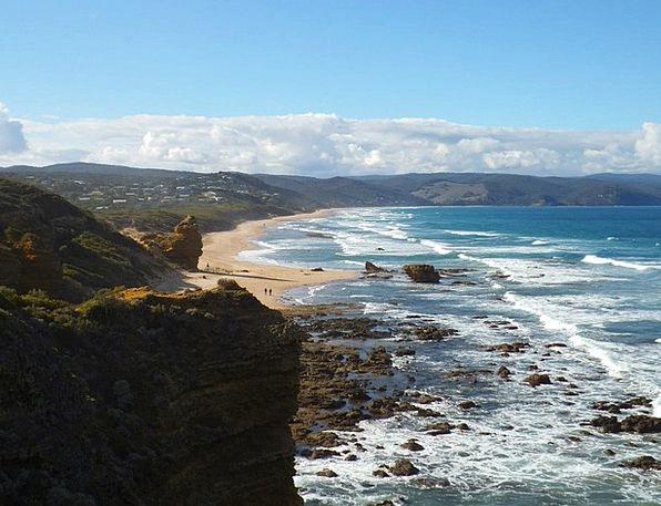 Coast Shore Vacation Pillars Travel Great Ocean Ro