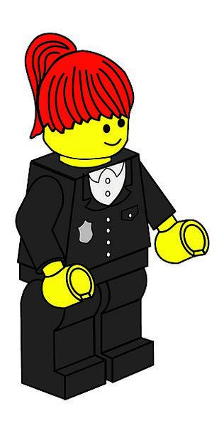Policewoman Cop Fashion Beauty Toy Doll Lego Polic