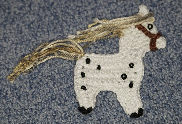 Crochet Mount Crochet Horse Horse Hobby Decoration