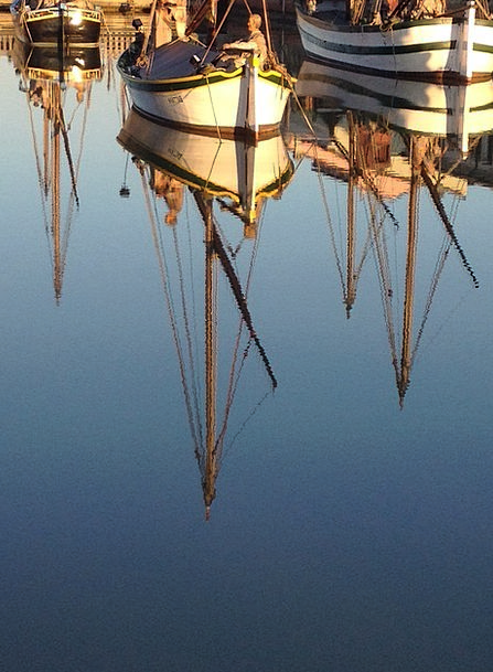 Reflection Likeness Ships Water Aquatic Boats