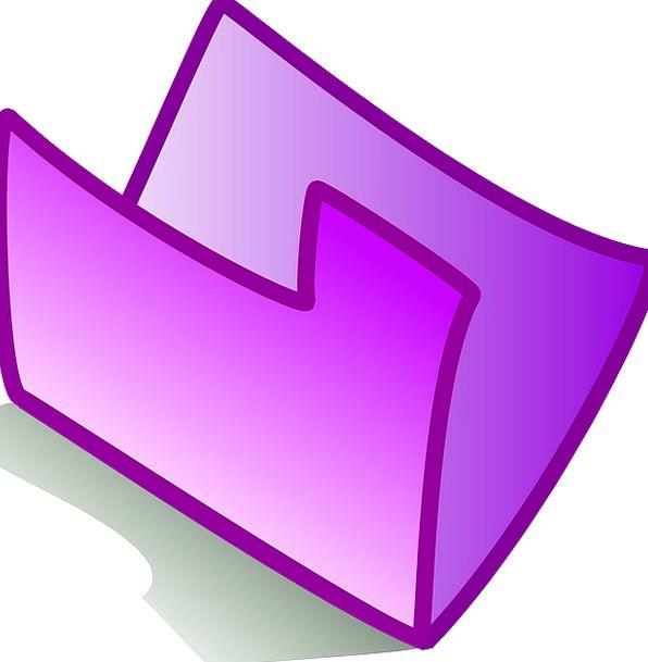 Folder Binder Image Purple Elaborate Icon Empty Un