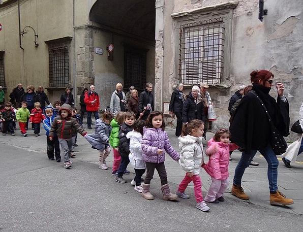 Kindergarten Playschool Broods Walk Gait Children