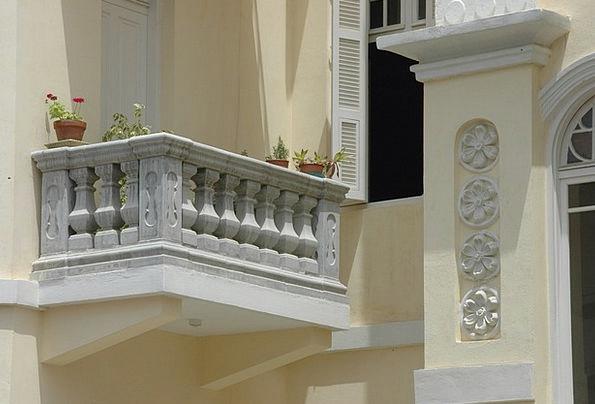 Balcony Circle Buildings Walkway Architecture Hous