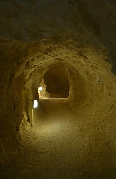 Cave Cavern Rock Pillar Israel Dark Dim