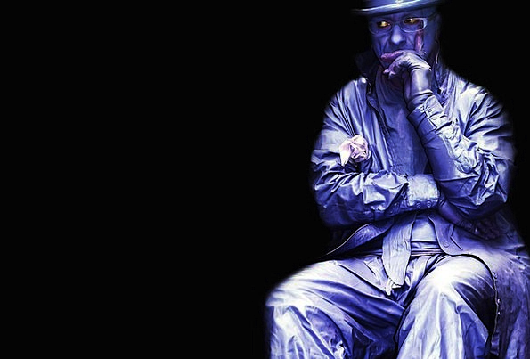 Purple Elaborate Gentleman People Public Man Mask