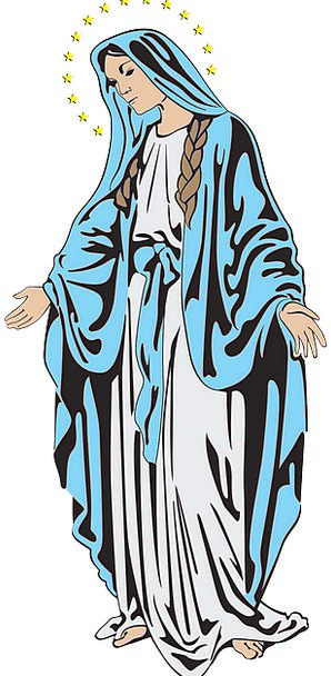 Mary Christian Religion Holy Consecrated Free Vect