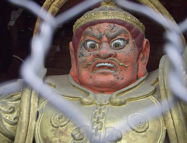 Samurai Soldier Japan Warrior Statue Japanese Scar