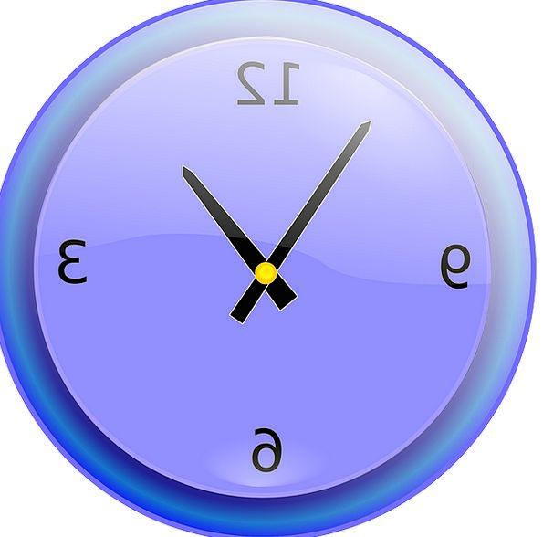 Clock Marking Analog Equivalent Ticking Blue Azure