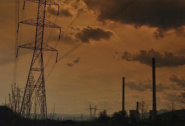 Power Plant The Birthplace Ponferrada Power Lines
