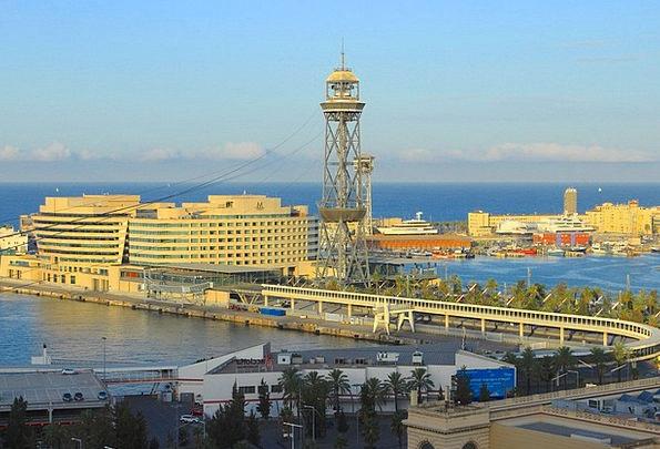 Barcelona Harbor Port Watching Port Spain Cataloni