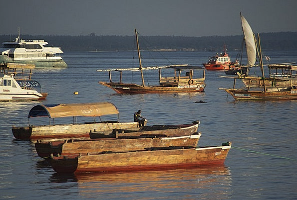 Port Harbor Vacation Sundown Travel Tanzania Sunse