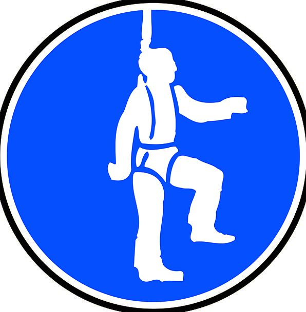 Sign Symbol Obligatory Compulsory Wear Safety Harness