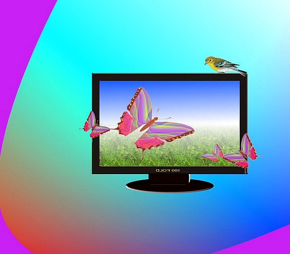Television Abstract Nonconcrete Lcd Plasma Screen