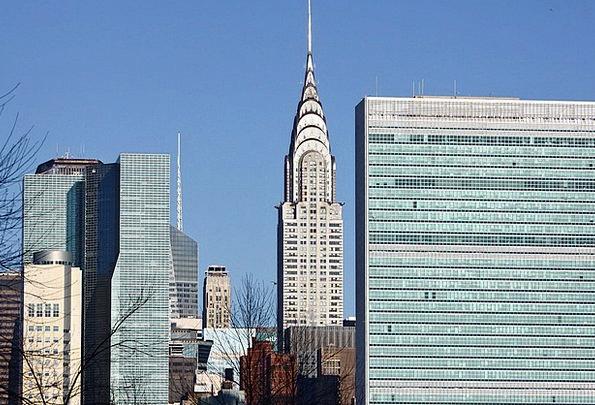 Skyline Horizon Buildings Architecture Manhattan M
