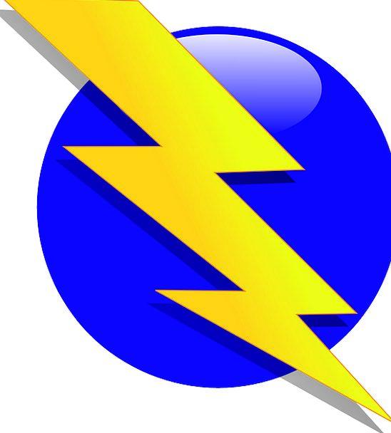 Bolt Bar Fast Electricity Power Lightning Flash Showy Symbol