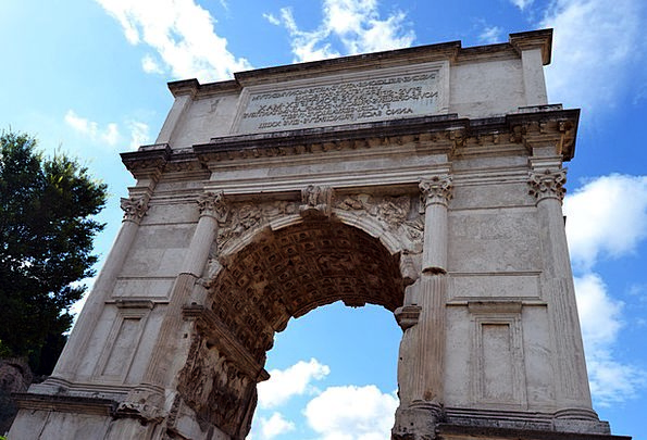 Arch Of Titus Four-sided Rome Square Sights Wonder