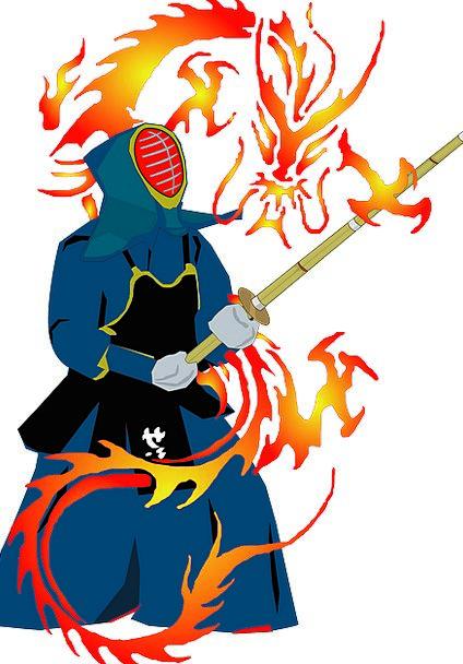 Martial Arts, Stick Fighting, Hwa Rang Do, Dragon, Fire