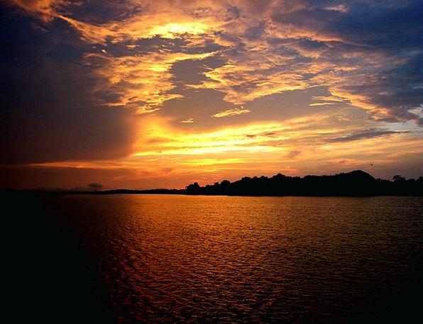 Amazonas Vacation Sundown Travel Amazon River Suns